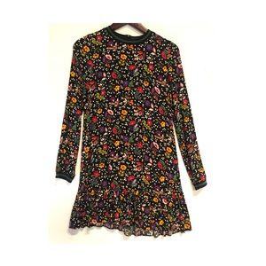 Flower short dress mini dress zara